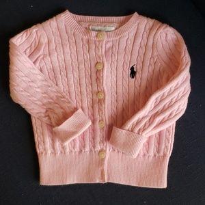Ralph Lauren baby girls 9 month pink sweater